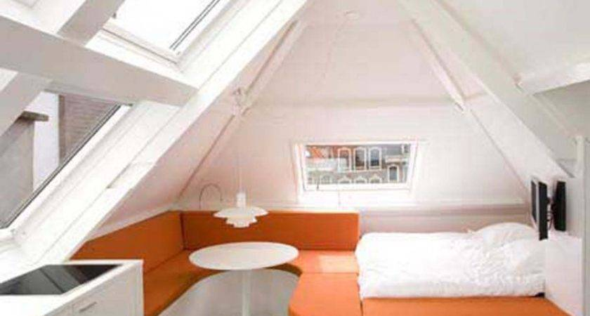 Bedroom Cool Small Attic Ideas White