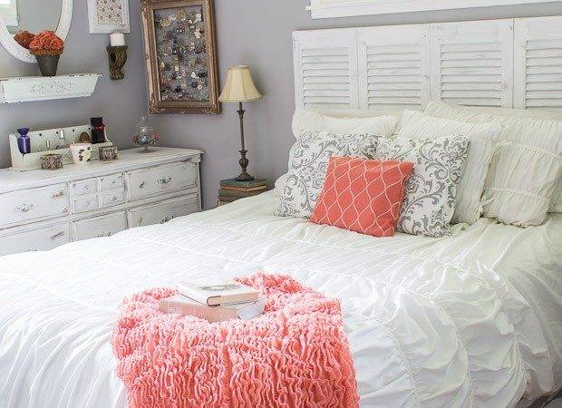 Bedroom Decor Girl Gray Turquoise Coral Navy