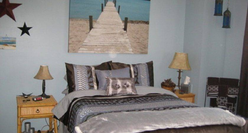 Bedroom Floating Shelves Beachy Wall Painting Feat