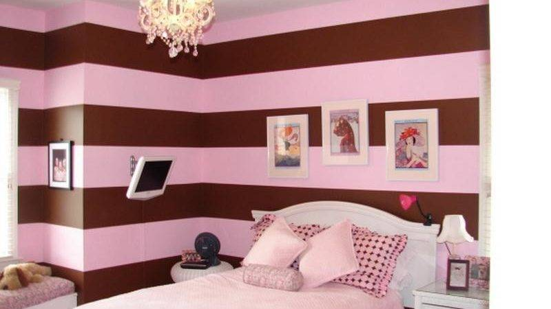 pink and brown room designs