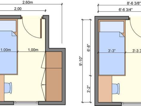 Bedroom Layouts One Bed