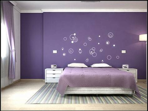 Bedroom Simple Purple Ideas Chic Style