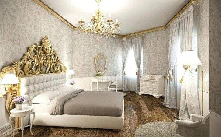 Bedroom White Gold Decor Regard Prepare