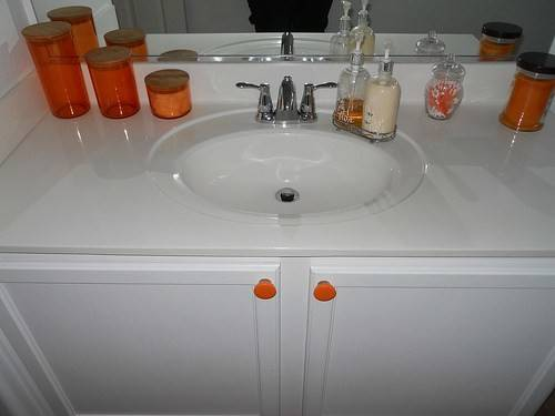 Before After Bathroom Orange Octopus Style Offbeat