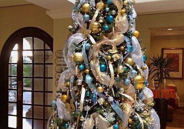 Best Blue Gold Christmas Tree
