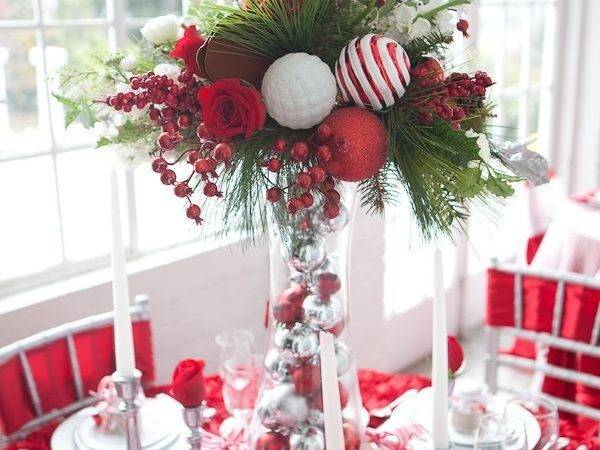 Best Christmas Table Decorations Pinterest