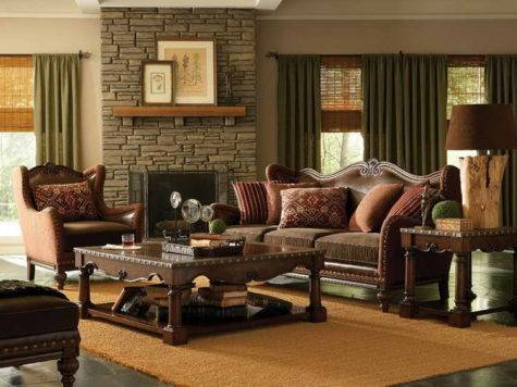 Best Curtain Colors Living Room Wood