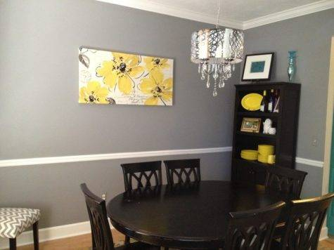 Best Gray Yellow Navy Kitchen Dining Room