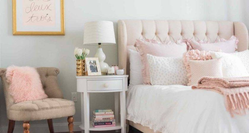 Best Ideas Pink Gold Bedroom Light Grey