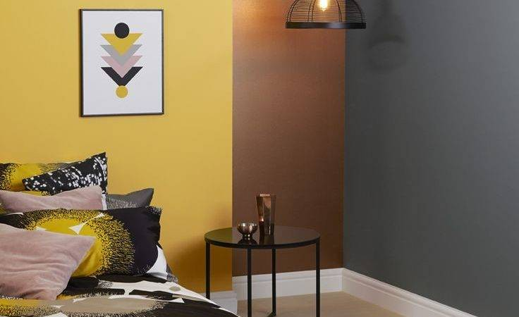 Best Mustard Walls Ideas Dark Blue Interior Design
