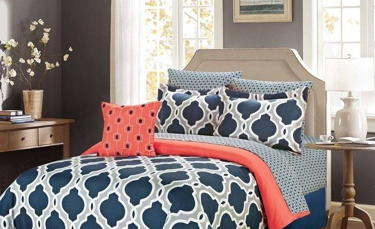 Best Navy Coral Bedroom Ideas Only Pinterest