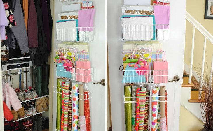 Best Photos Diy Wrapping Paper Storage Wall