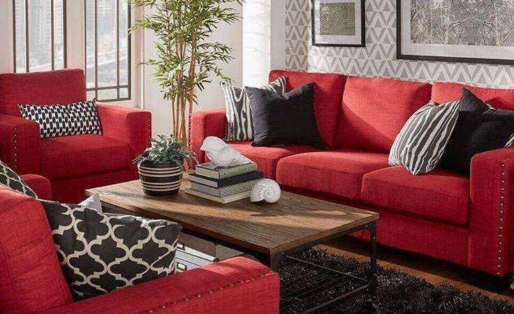 Best Red Couch Living Room Ideas Pinterest