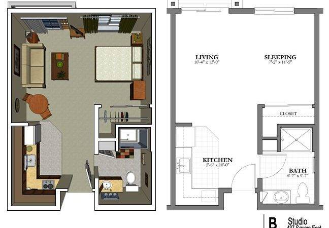 Best Studio Apartment Floor Plans Ideas Pinterest