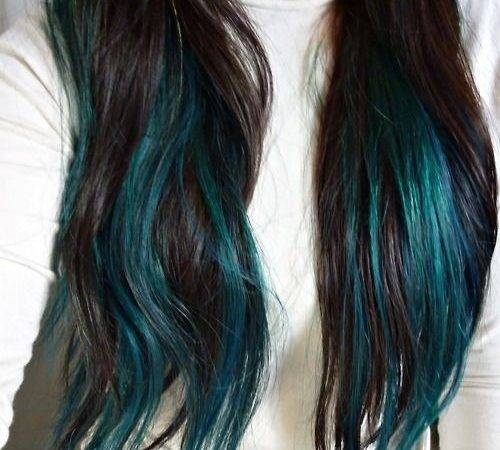 Best Teal Hair Highlights Ideas Pinterest