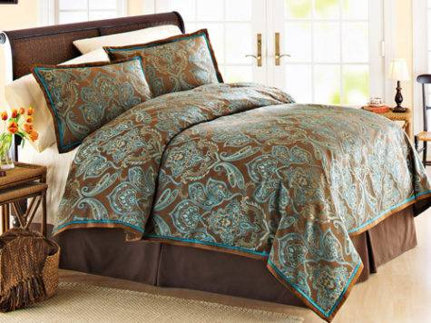 Better Homes Garden Teal Jacquard Comforter Cover Set
