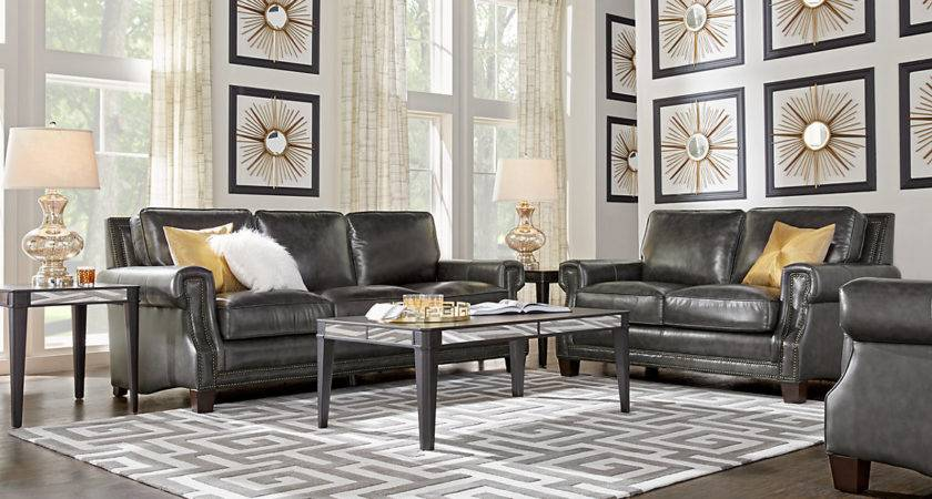 Black Brown Charcoal Living Room Decorating Ideas