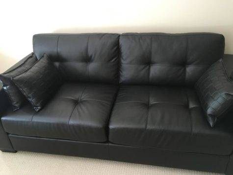 Black Faux Leather Couch Pillows Central