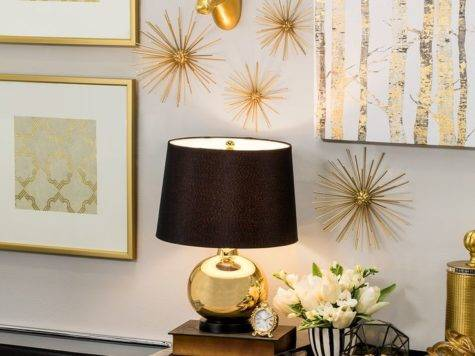 Black Gold Bedroom Decor