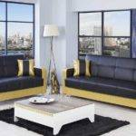 Black Gold Living Room Furniture White Table