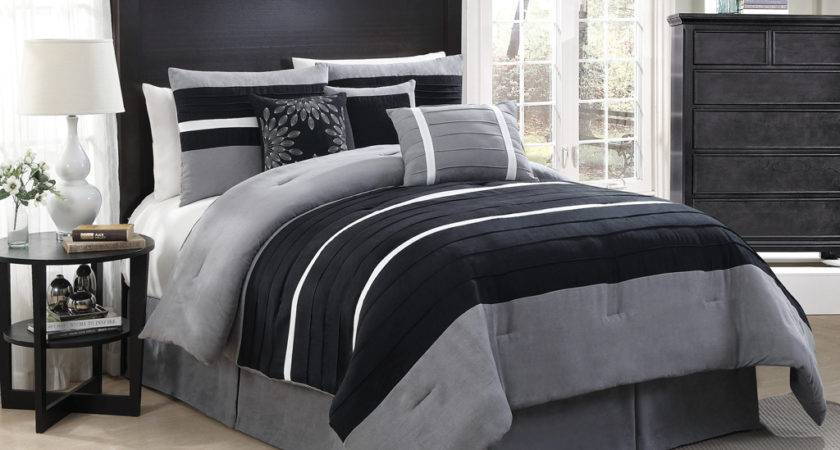 Black Grey Bedding
