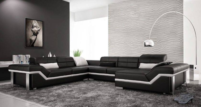 Black Leather Couch Modern