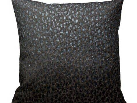 Black Leather Texture Throw Pillows Zazzle