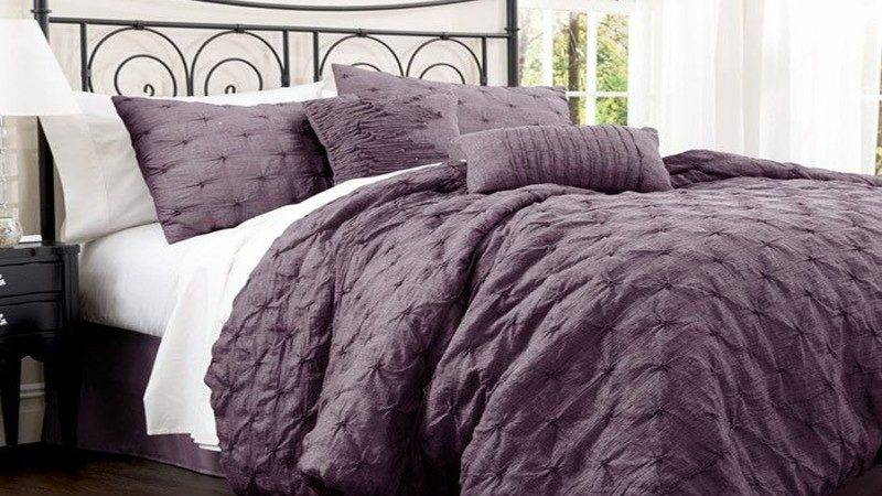 Black Purple Comforter Sets Bedroom