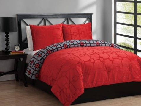 Black Red Bedding Sets Queen Spillo Caves