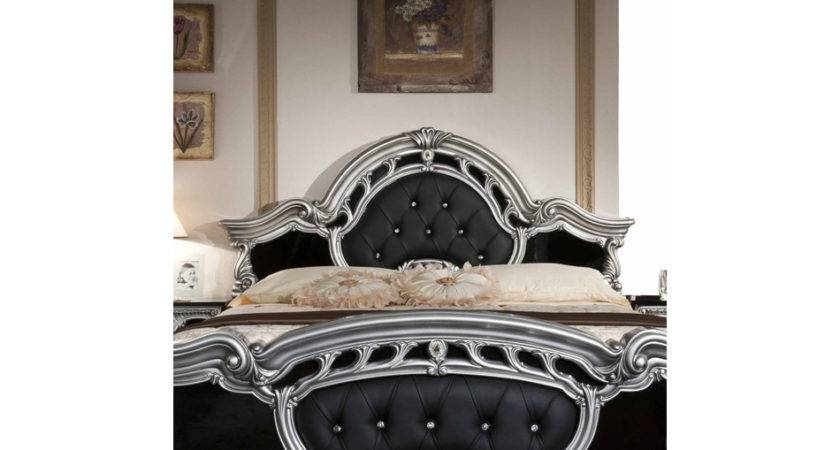 Black Silver Bed Sets White Sequin