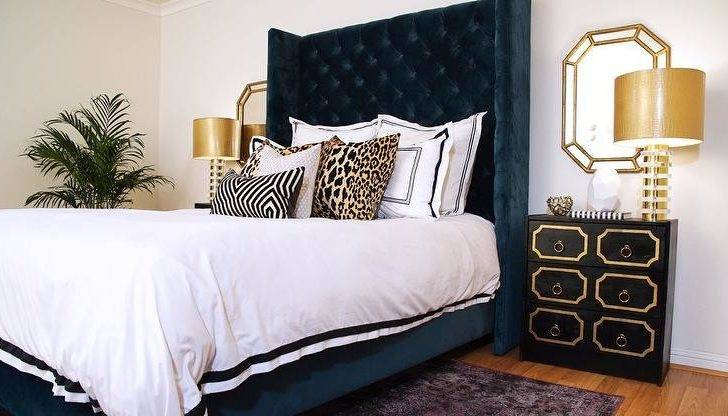 Black Tufted Bed Loading News Brown