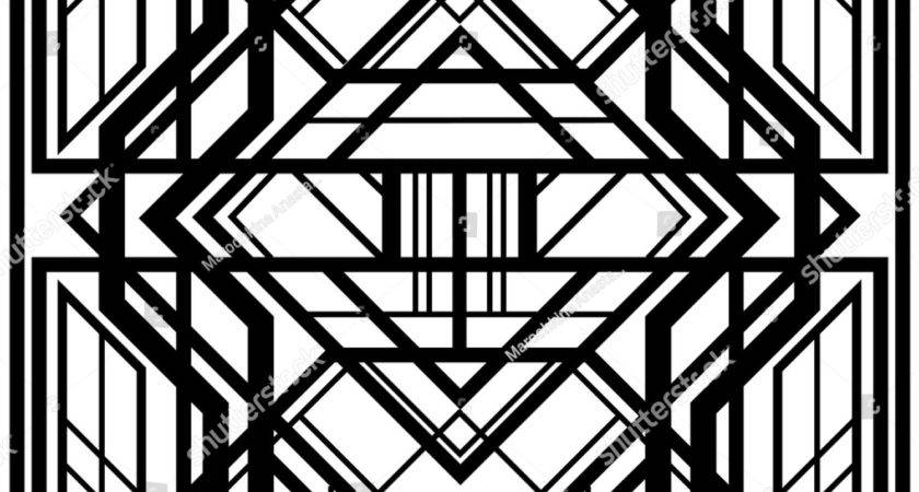 Black White Art Deco Patterns Imgkid