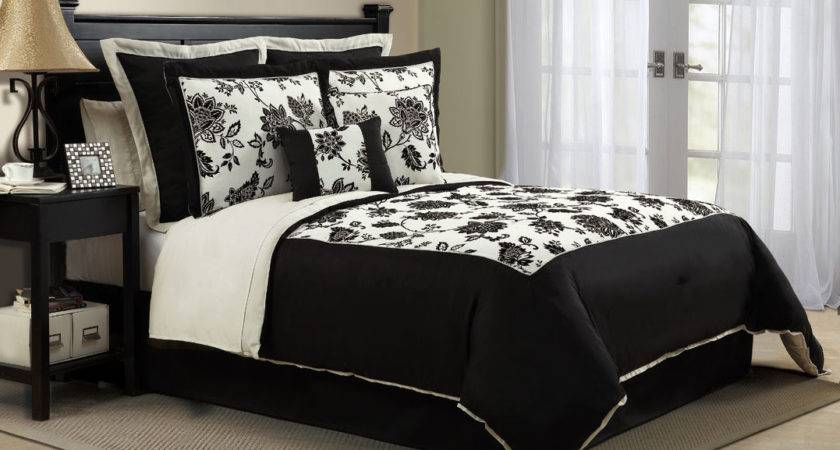 Black White Comforter Set Queen King Sizes