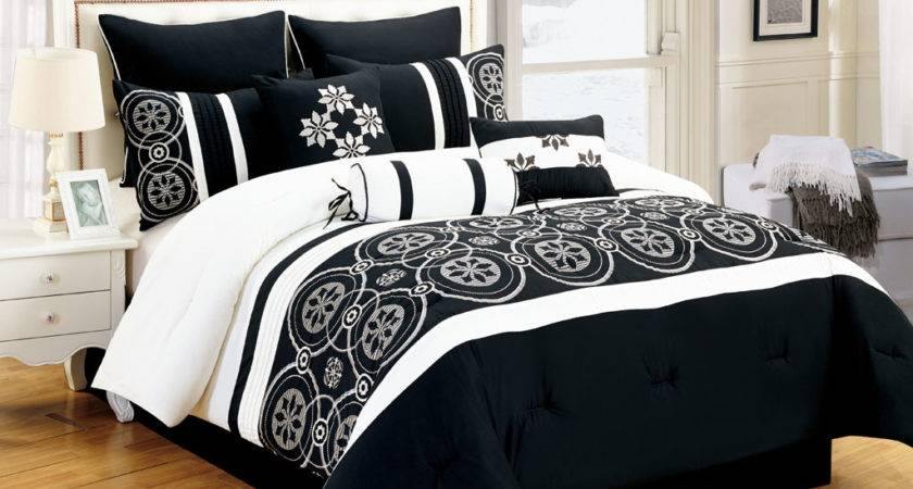 Black White Comforter Sets King Pin