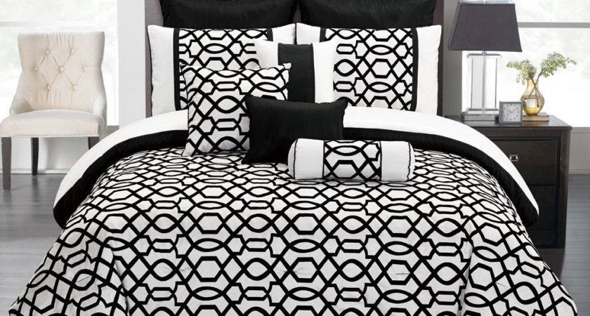 Black White Comforter Sets King