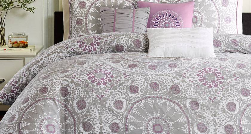 Black White Grey Comforter Set Elegant Lush Decor Piece