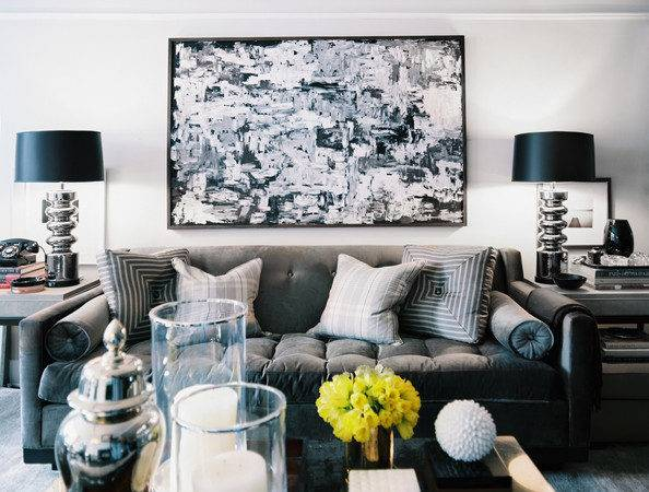 Black White Grey Living Room Marceladick
