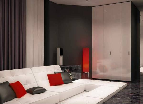 Black White Interior Decorating Red Accents