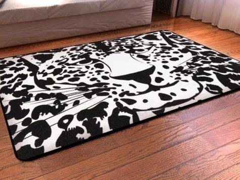 Black White Leopard Print Rug Best Decor Things
