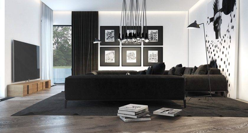Black White Living Rooms Work Their Monochrome Magic