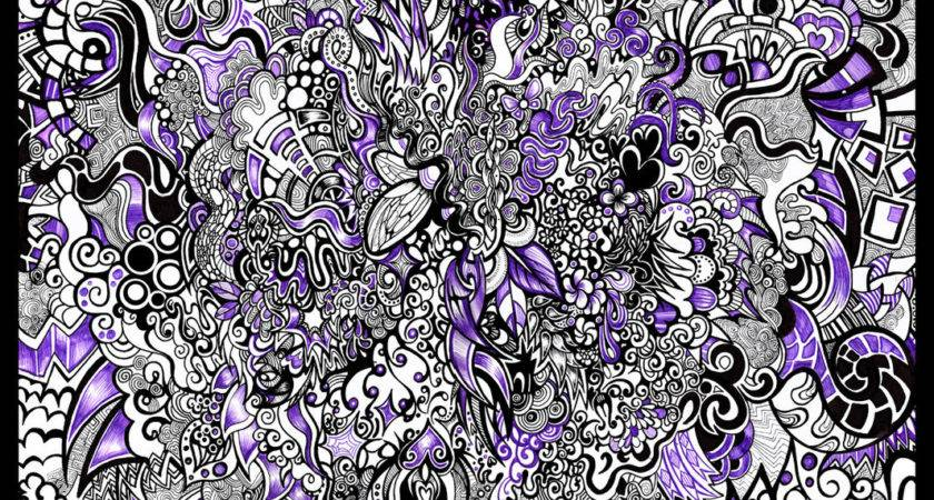 Black White Purple Pattern Zyari Deviantart