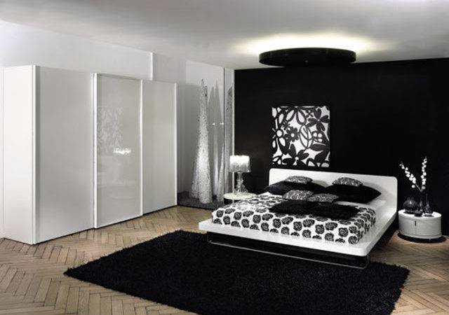 Black White Red Bedroom Ideas Small Interior