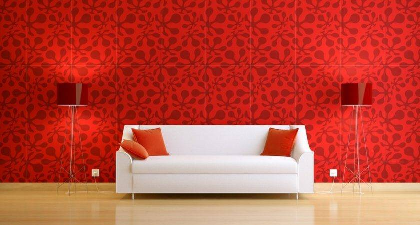 Black White Red Combination Interior Design