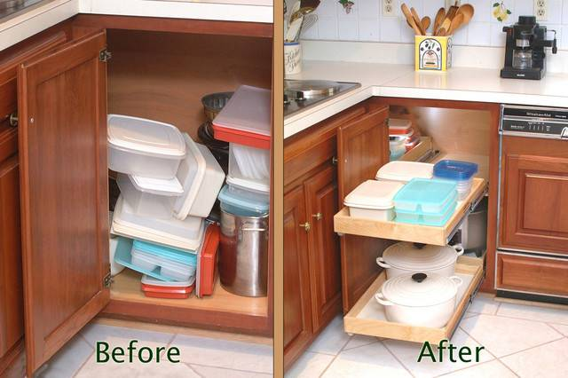 Blind Corner Cabinet Solution Before After Kitchen