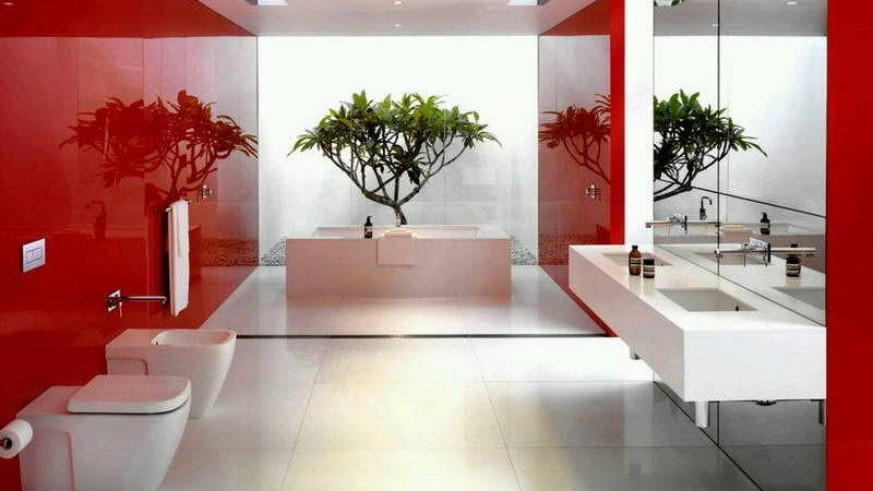 Bloombety Bathroom Decorating Ideas Red