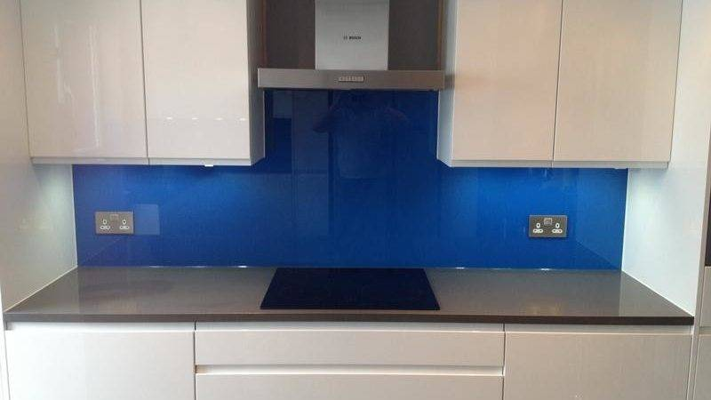 Bloombety Blue Kitchen Splashbacks