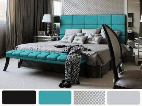 Bloombety Gray Black Turquoise Preppy Bedroom Ideas