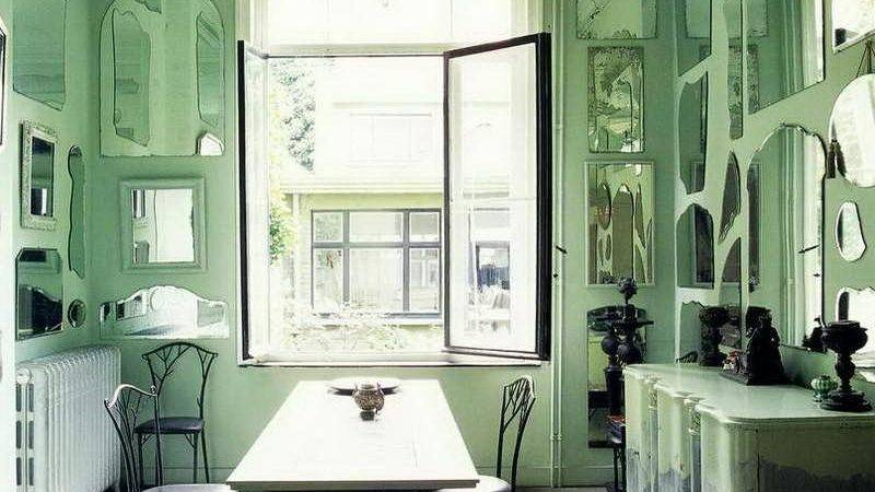 Bloombety Mint Green Paint Color Wall Mirror
