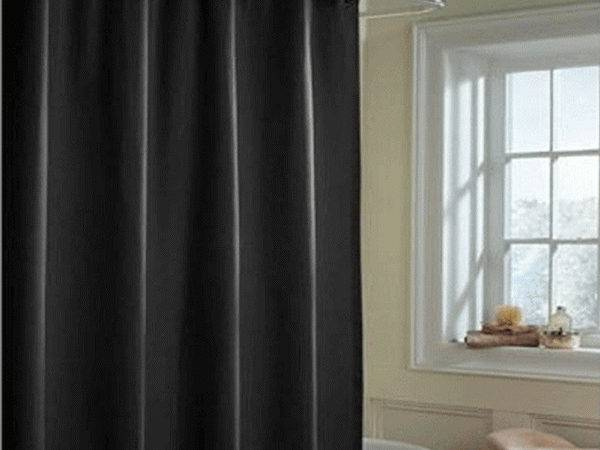 Bloombety Shower Curtains Fabric Black Color Design
