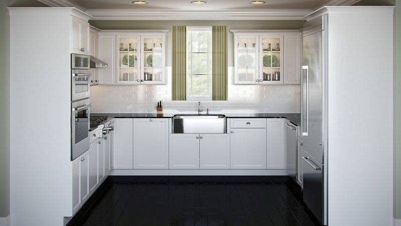 Bloombety Small White Shaped Kitchen Layouts